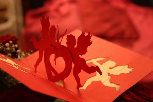 kirigami,amour,Cupidon